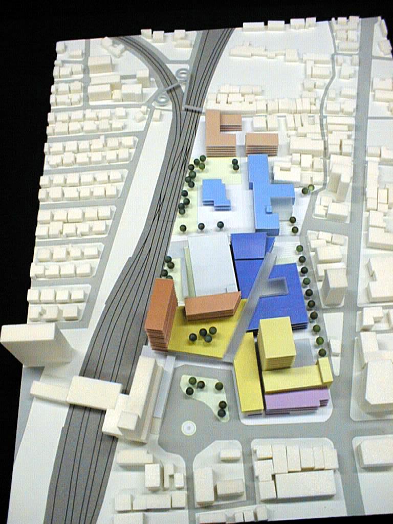 城下町の模型