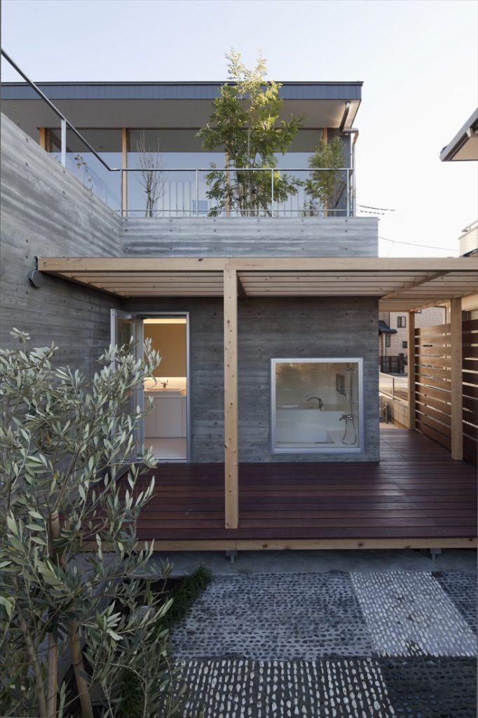お風呂前の坪庭