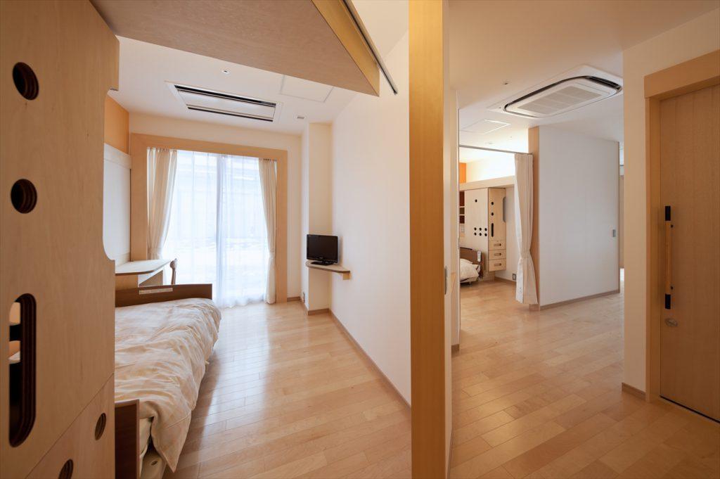 4つの部屋がまとまったタイプの居室