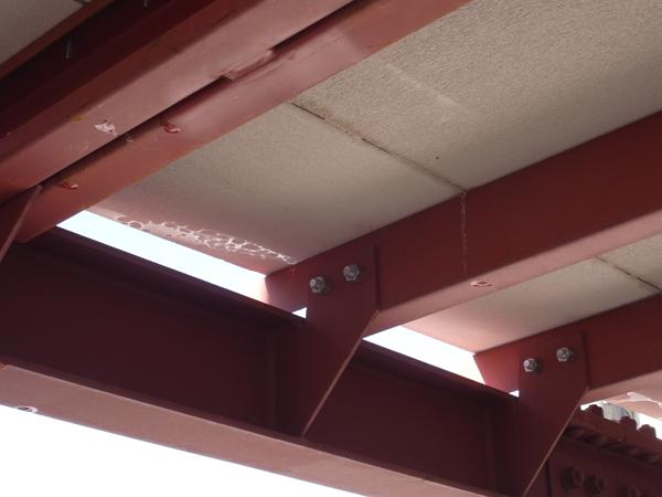 ALC屋根のガセットプレート