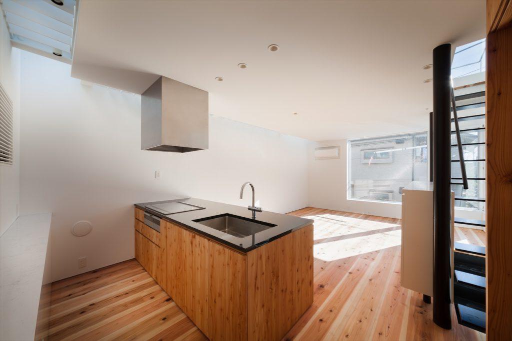 ゆとりがある大きさのキッチン