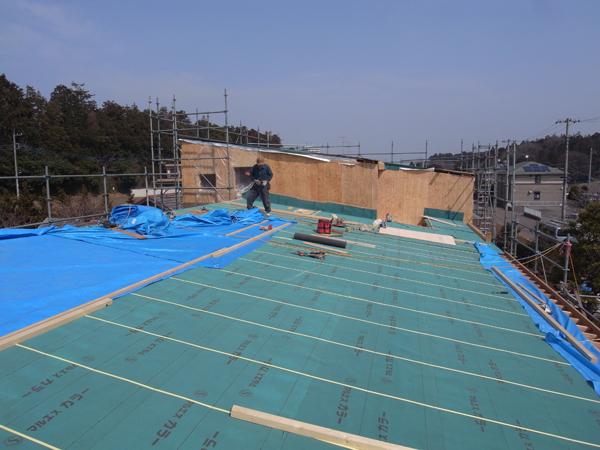 屋根下地施工