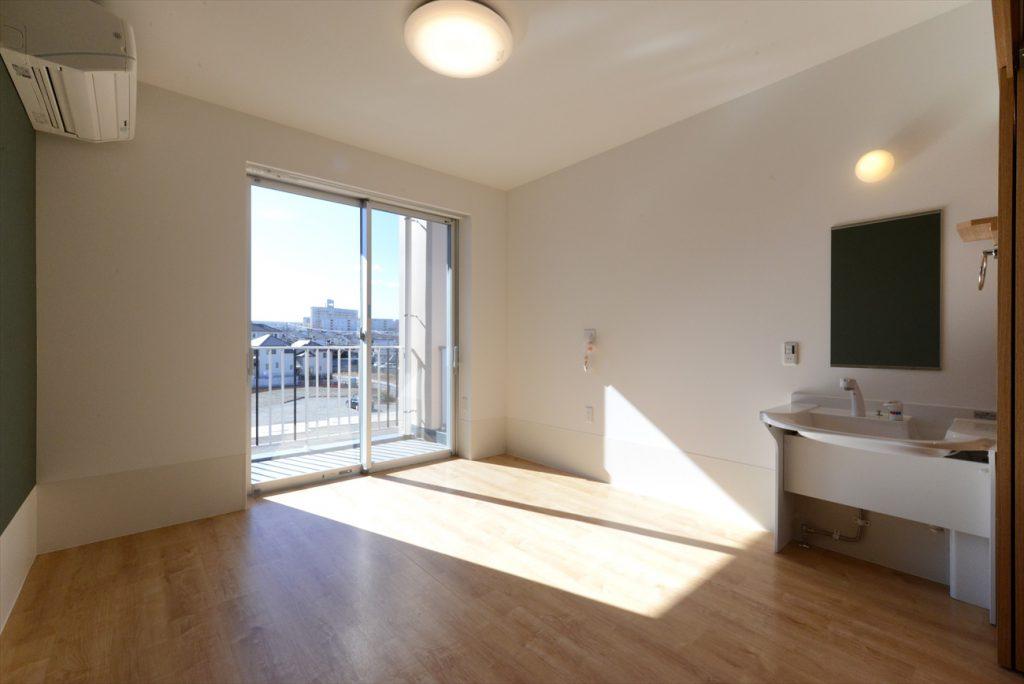 日当たりの良い個室