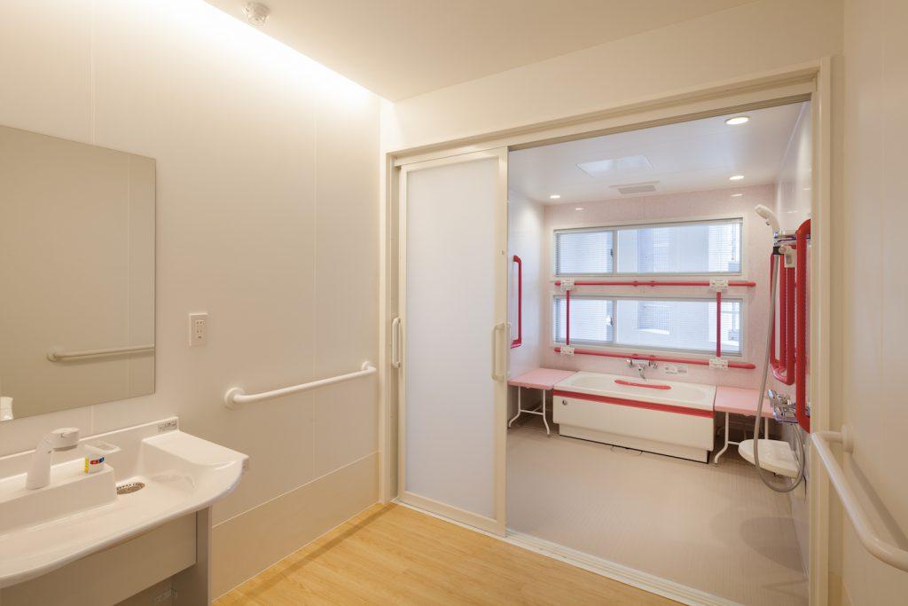 使いやすい入浴スペース