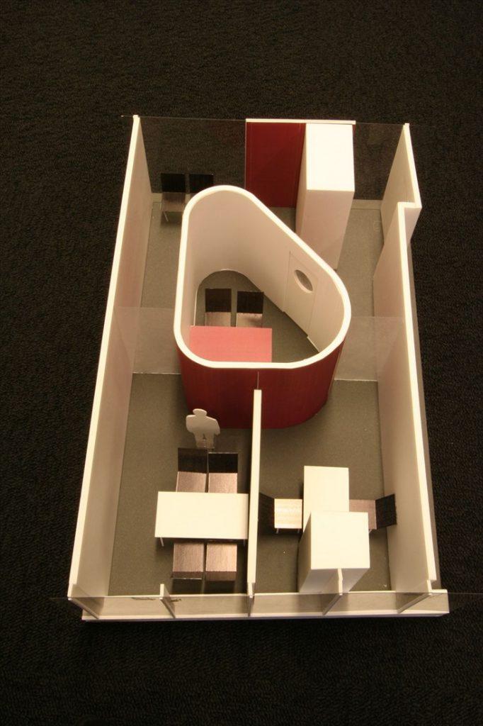オフィスの俯瞰模型