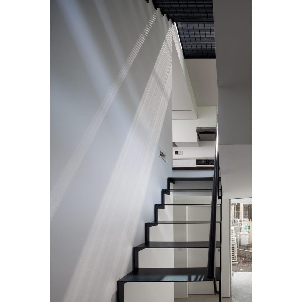 開放感があるスケルトン階段